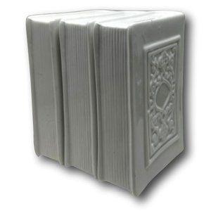 Vintage Porcelain White Coin Slot Book Banks - Set